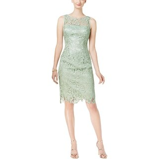 Adrianna Papell Womens Cocktail Dress Lace Above Knee