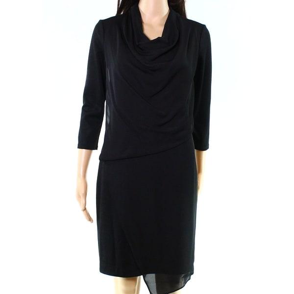59d6f8284a18 Shop Rachel Rachel Roy NEW Deep Black Womens 2 Sheath Cowl-Neck Dress - Free  Shipping On Orders Over $45 - Overstock - 18313528