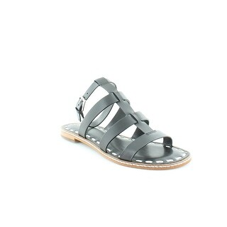 Michael Michael Kors Fallon Leather Flat Strappy Sandals In Black
