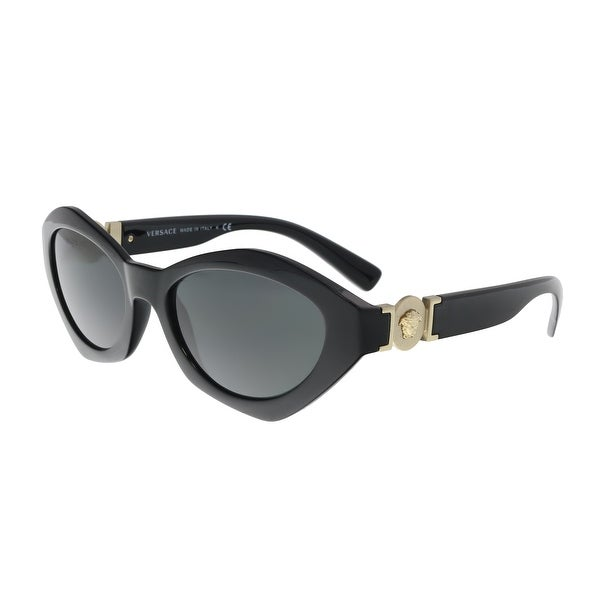 a1afaca3d15 Shop Versace VE4334 GB1 87 Black Oval Sunglasses - no size - Free ...
