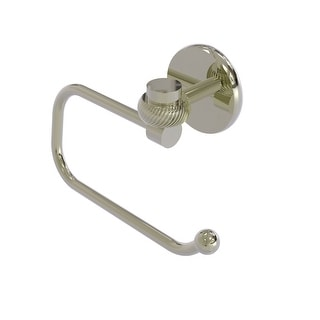 Allied Brass Satellite Orbit One Collection Euro Style Toilet Tissue Holder with Twisted Accents