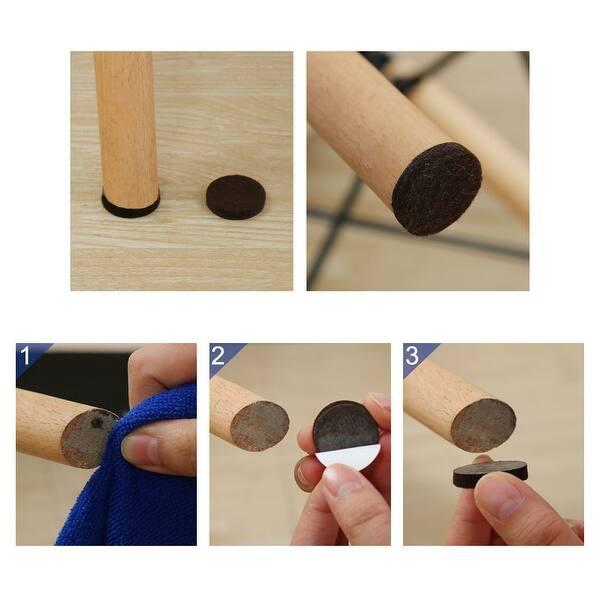 Round Self Adhesive Anti Scratch Desk