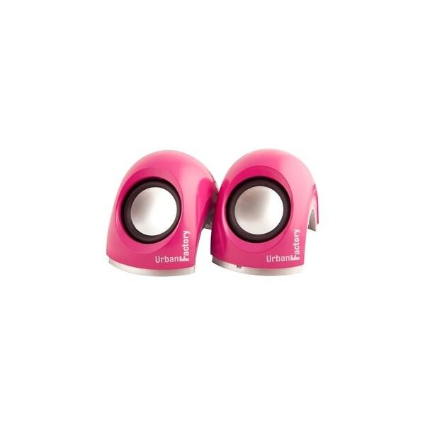 Urban Factory MSP06UF Urban Factory Crazy 2.0 Speaker System - 6 W RMS - Pink - USB