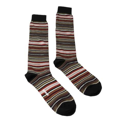 Missoni GM00CMU5234 0001 Olive/Red Knee Length Socks