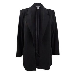 Link to Nine West Women's Plus Size Notch-Collar Open-Front Jacket (1X, Black) Similar Items in Suits & Suit Separates