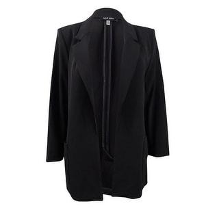 Link to Nine West Women's Plus Size Notch-Collar Open-Front Jacket (3X, Black) Similar Items in Suits & Suit Separates