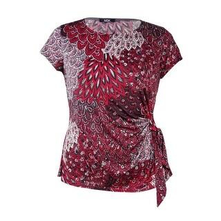 MSK Women's Sequined Side-Tie Jersey Top (Option: Xxl)