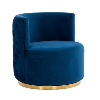 Link to Modrest Gary Modern Blue Fabric Accent Chair Similar Items in Accent Chairs