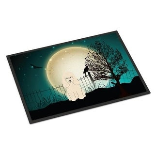 Carolines Treasures BB2260MAT Halloween Scary Poodle White Indoor or Outdoor Mat 18 x 0.25 x 27 in.
