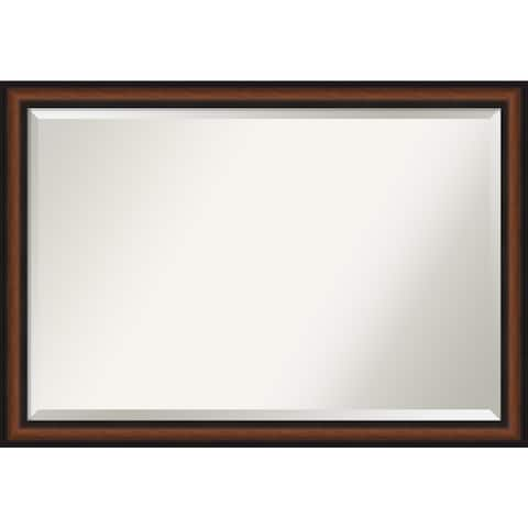 Porch & Den Peony Walnut Finish Vanity Wall Mirror