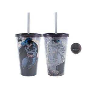 Batman 16 oz Plastic Cold Cup w Ice Cubes