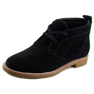 Tommy Hilfiger Blaze Women Round Toe Suede Black Chukka Boot