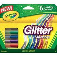 Crayola Glitter Markers 6/Pkg-