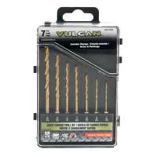 "Vulcan 503941OR ""7-Piece"" Metal Drill Bit Set 1/4"""