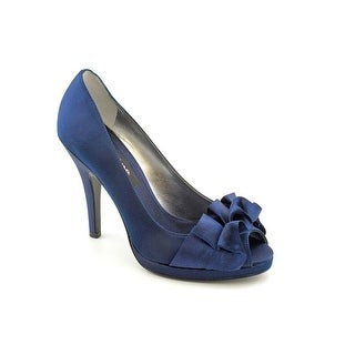 Nina Evelixa Women Peep-Toe Canvas Blue Heels
