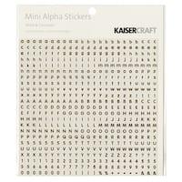 """Kaisercraft Mini Alphabet Stickers 5.9""""X5.9"""" -White & Chocolate"""