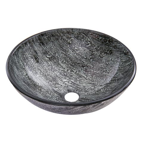 VIGO Titanium Glass Vessel Bathroom Sink