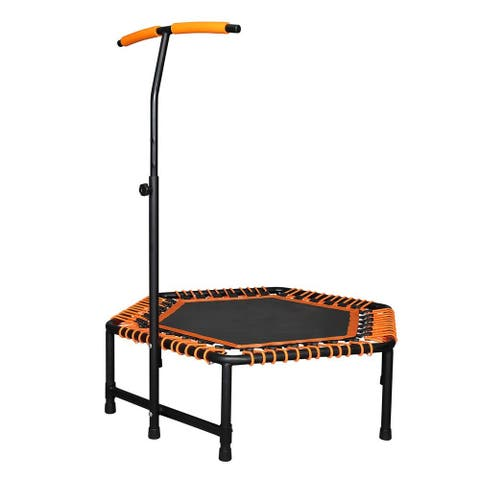 Mini Trampoline for Kids Adults, Quiet Fitness Rebounder