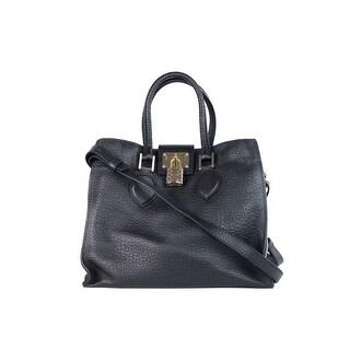 Roberto Cavalli Womens Black Leather Medium Florence Bag - M