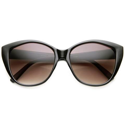 Womens Oversized Oval Mod Glam High Fashion Sunglasses