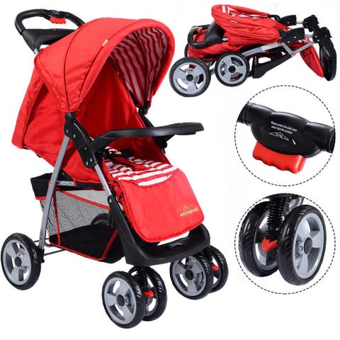 Costway Foldable Baby Kids Travel Stroller Newborn Infant Buggy
