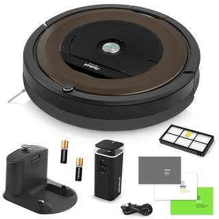 iRobot Roomba 890 Vacuum Cleaning Robot + Dual Mode Virtual Wall Barrier (With Batteries) + Extra High Efficiency Filter + More|https://ak1.ostkcdn.com/images/products/is/images/direct/2954984345f026c7453cccf2b3418f9638cb41dd/iRobot-Roomba-890-Vacuum-Cleaning-Robot-%2B-Dual-Mode-Virtual-Wall-Barrier-%28With-Batteries%29-%2B-Extra-High-Efficiency-Filter-%2B-More.jpg?impolicy=medium
