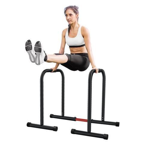 Adjustable Dip Bar- 500lbs Dip Station Portable Functional Fitness Bar - 1 Set Fitness Rack