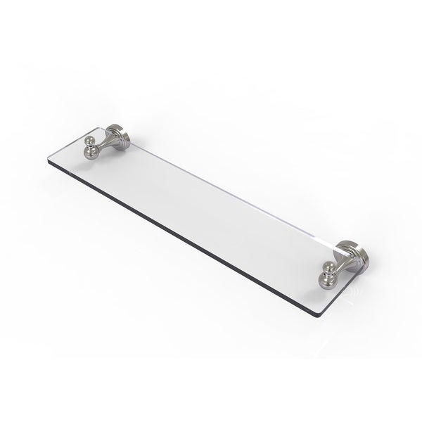 Allied Brass Sag Harbor Collection Glass Vanity Shelf with Beveled Edges