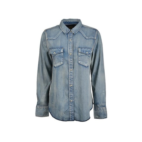 StS Ranchwear Western Shirt Womens Claira L/S Button Denim