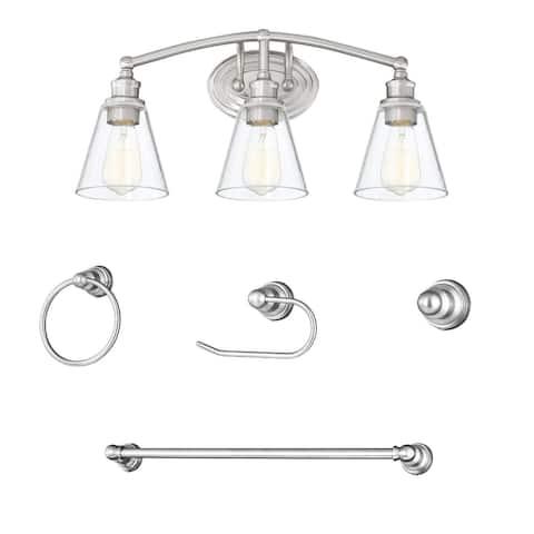 """3 Light Vanity Light Fixture with Bathroom Set - 22.75""""x6.85""""x10.55"""""""
