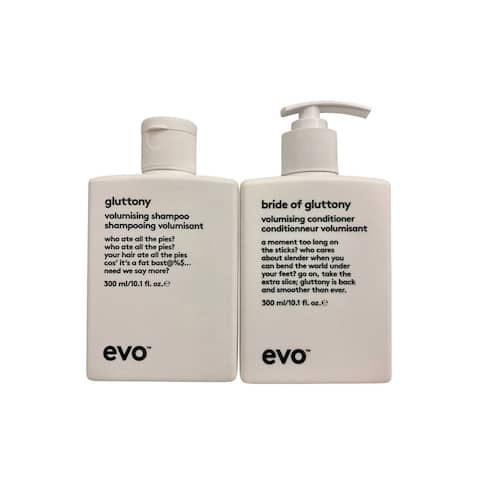 evo Gluttony Volumising Shampoo & Conditioner Set 10.1 OZ Each - 1.1 - 2 Oz.