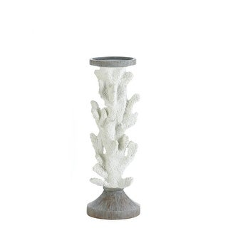 Large Coral Candle Holder