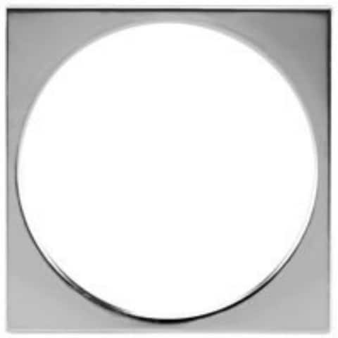 "Oatey 42042 Square Tile Ring 4-1/4"", Stainless Steel"