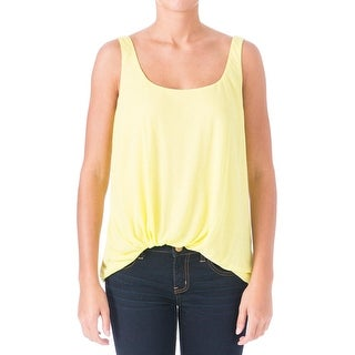 Elizabeth and James Womens Kim Tank Top Jersey Ruched