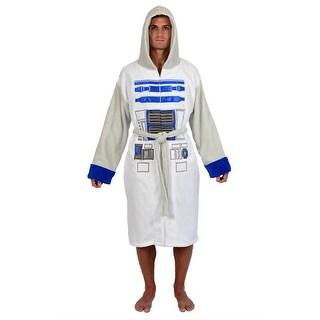Star Wars R2-D2 Adult Hooded Bathrobe - Grey