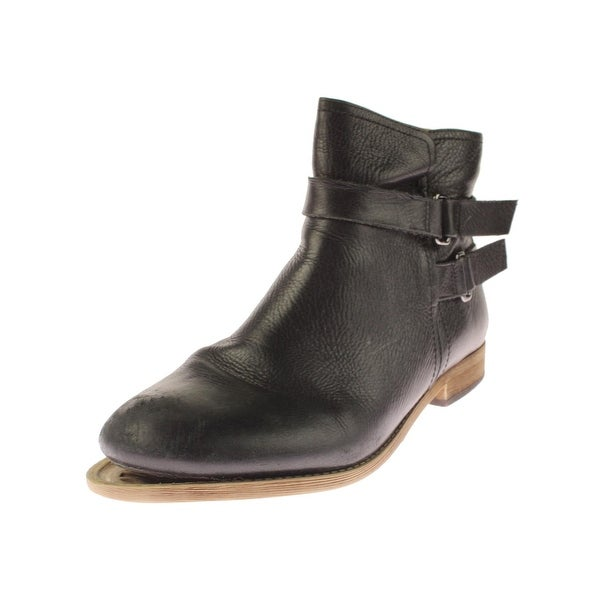 Franco Sarto Womens Harwick Ankle Boots Leather Round Toe
