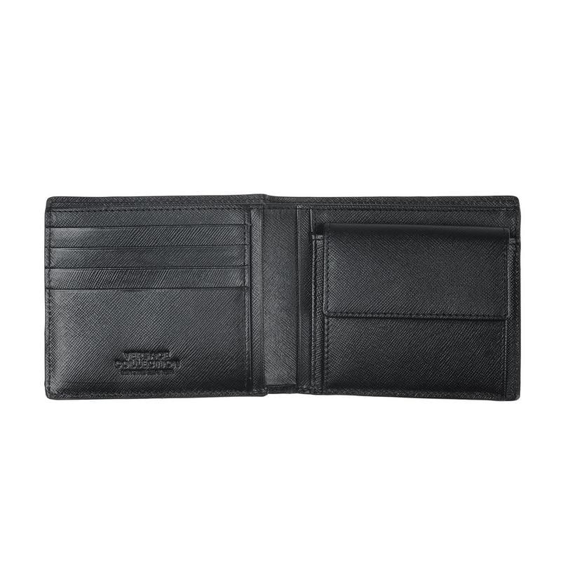 3626bfeb3d Shop Versace Collection Black Leather Medusa Wallet - L - Free Shipping  Today - Overstock - 18800630