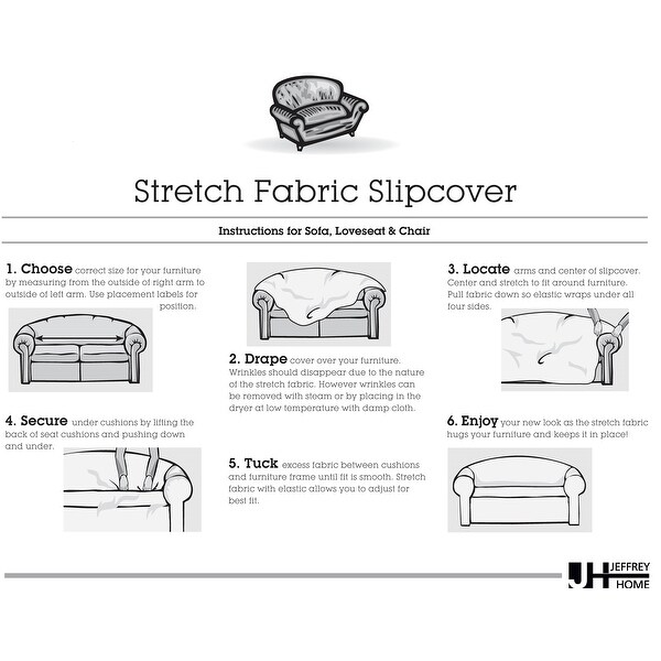 Shop Stretch Checkered Loveseat Slipcover Overstock 31579819