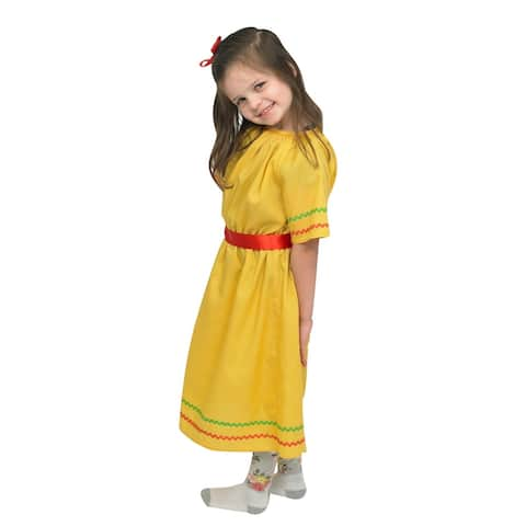 Children's Factory Multi-Ethnic Costume, Hispanic Origin, Belted Dress