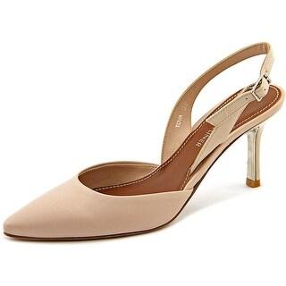 Donald J Pliner Tova Pointed Toe Leather Slingback Heel