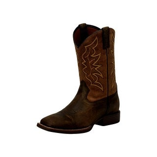Justin Western Boots Mens Square Toe Leather Base Stampede 7223