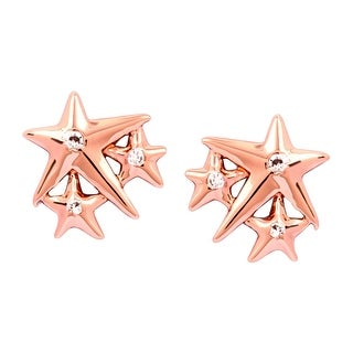Chrysalis Charmed 14K Rose Gold-Flashed Brass Lucky Star Stud Earrings