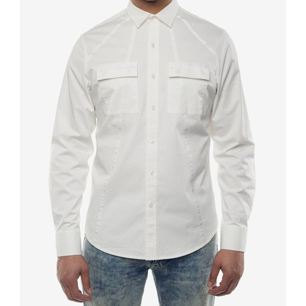 53f7cff20ee Shop Sean John Mens Medium Dual Pocket Button Down Shirt - Free Shipping On  Orders Over  45 - Overstock - 26987798