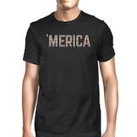 Merica Unique 4th Of July Design T-Shirt For Men Tribal Pattern Tee