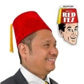 Red Fez Costume Hat