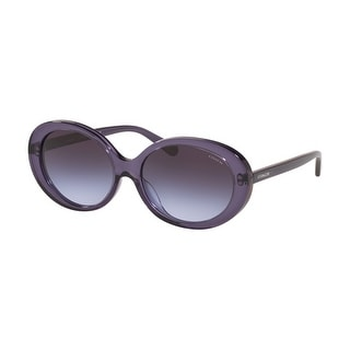 Link to Coach HC8270U 55354Q 55 Transparent Purple Woman Oval Sunglasses Similar Items in Women's Sunglasses