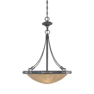Designers Fountain 97331 Three Light Down Lighting Bowl Pendant from the Austin Collection