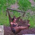 Sunnydaze Hanging Caribbean XL Hammock Chair - Thumbnail 3