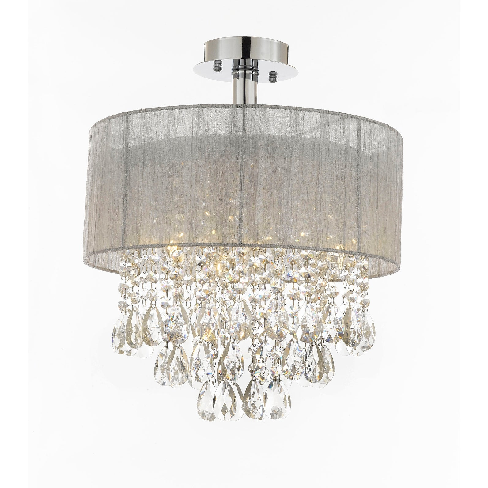 Glamorous Two Tier Crystal Crown Ceiling Light