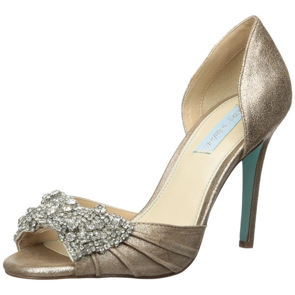 Betsey Johnson Womens SB gown Open Toe D-orsay Pumps